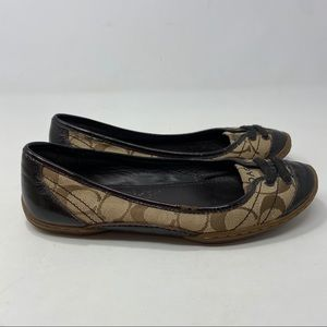 Coach Women's Brown & Black Flats Size 6B